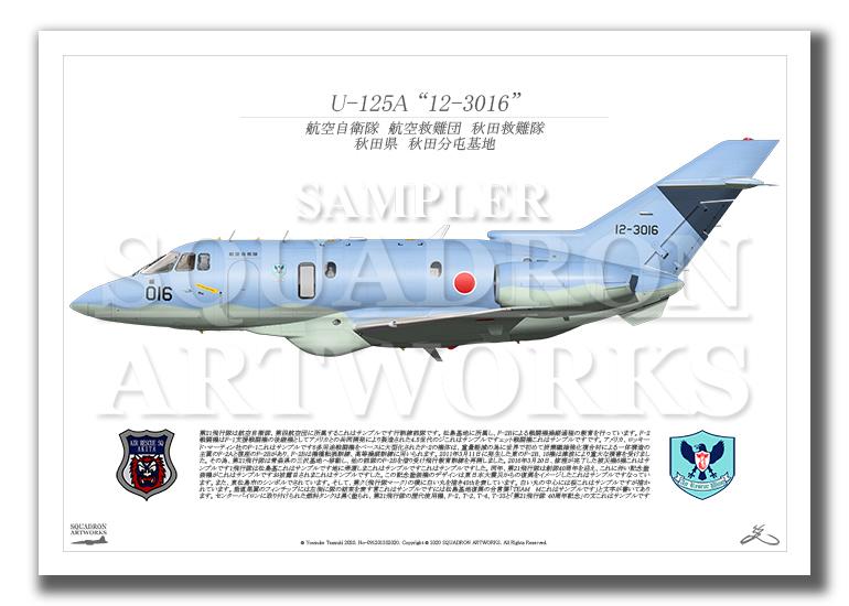 """U-125A 秋田救難隊 """"12-3016"""" (A3サイズ Profiles)"""