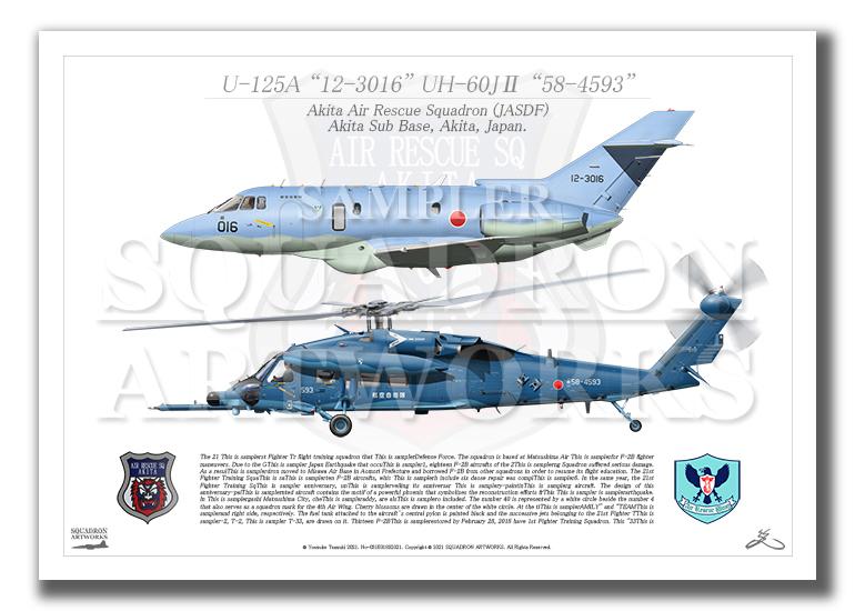 U-125A/UH-60J� 秋田救難隊 2機ver (A3サイズ Prints)