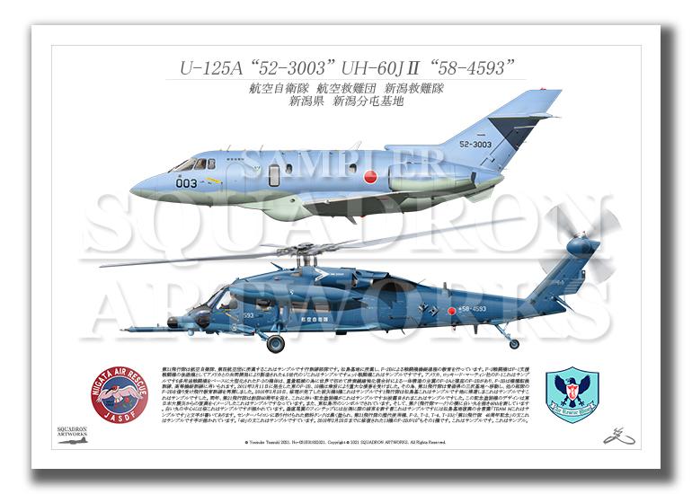 U-125A/UH-60J� 新潟救難隊 2機ver (A3サイズ Prints)