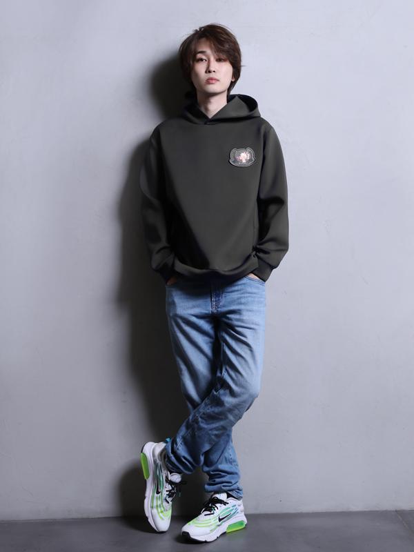 【即納】【Unisex】 Emblem hoodie