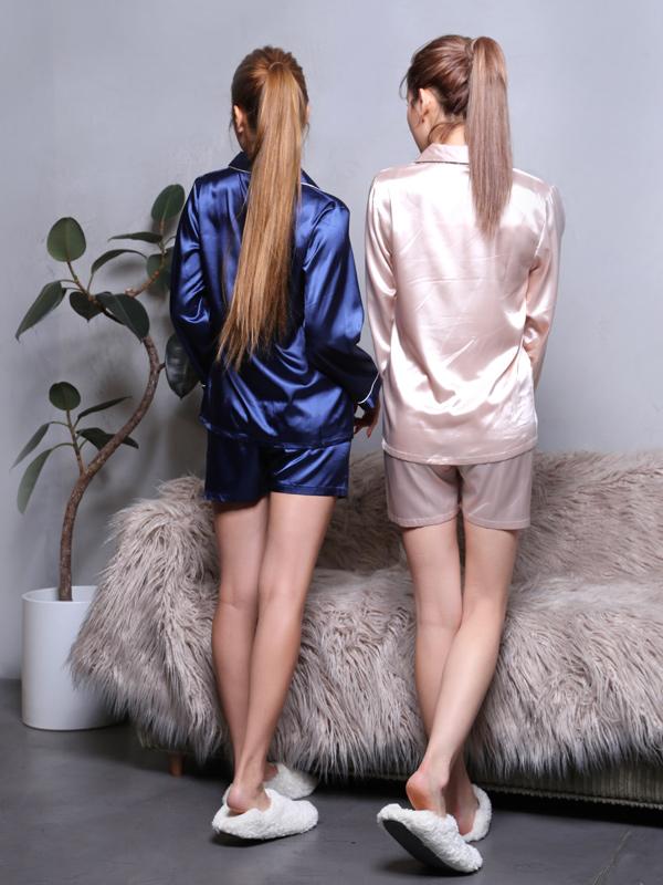 【即納】Luxury satin  fabric Roomwear(Ladies)