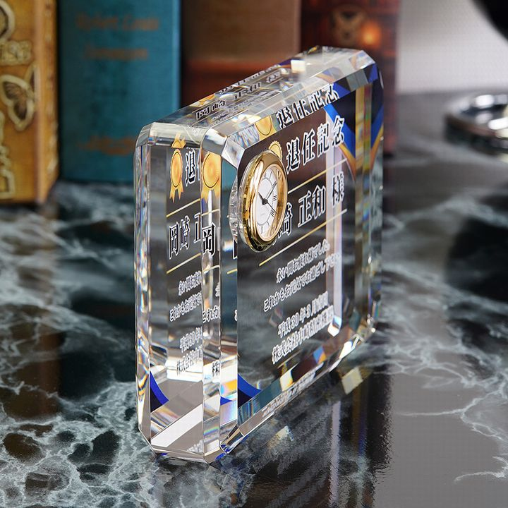 クリスタル時計 DT-6 カラー印刷