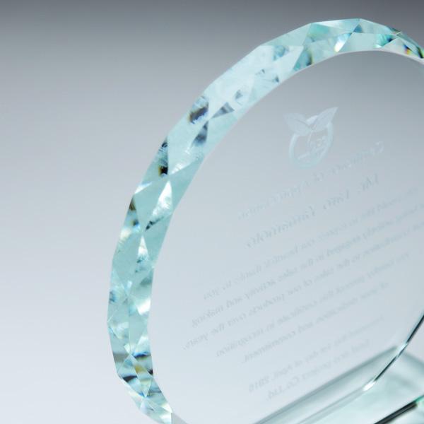 ホワイトガラス楯 PS-6