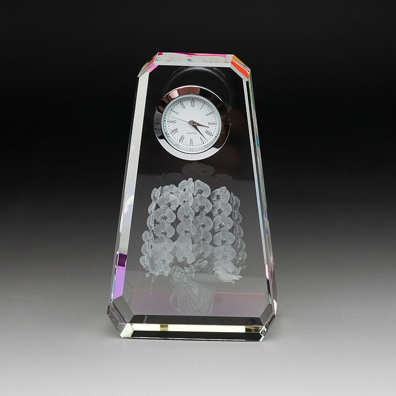 3Dクリスタルファンタジークロック SFC-2 胡蝶蘭