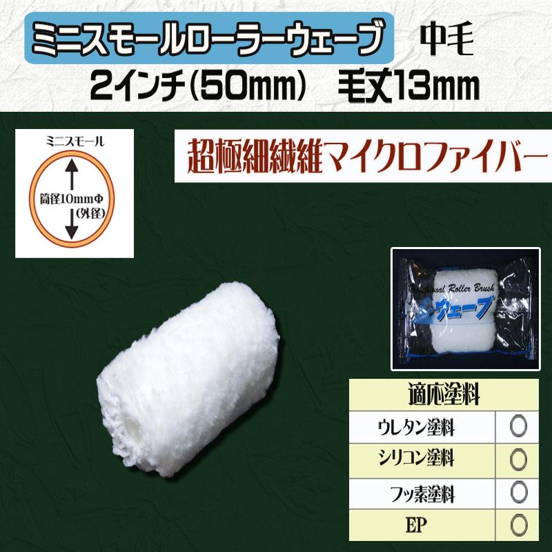 ミニスモールローラー ウェーブ 2インチ(50mm) 毛丈13mm
