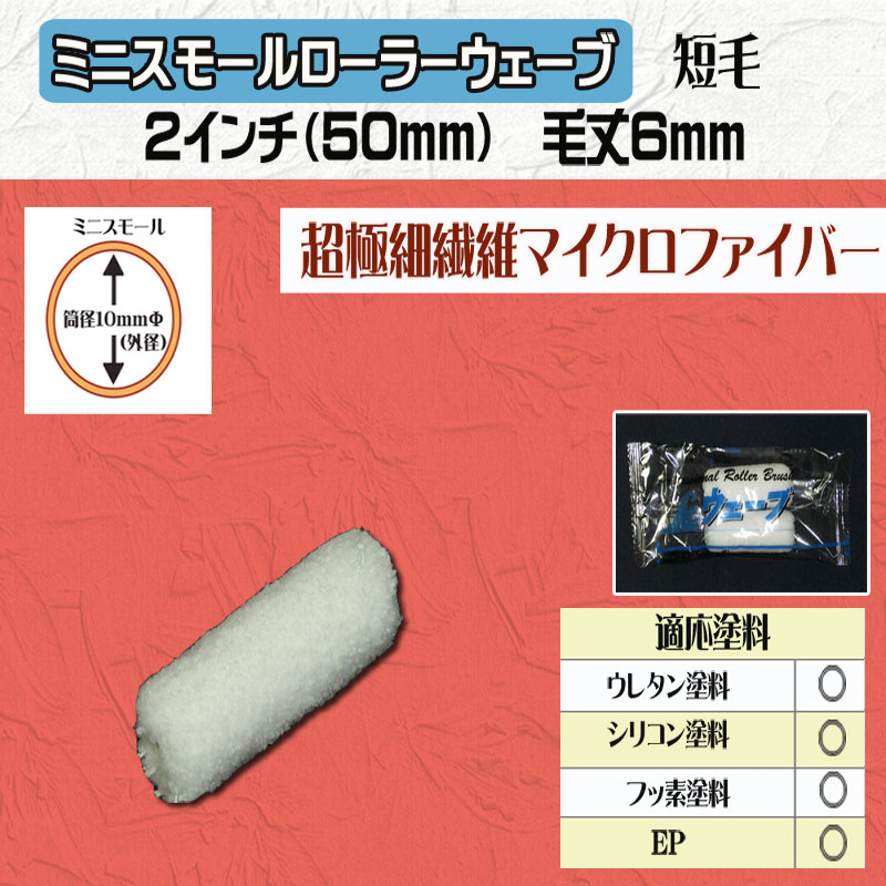 ミニスモールローラー ウェーブ 2インチ(50mm) 毛丈6mm