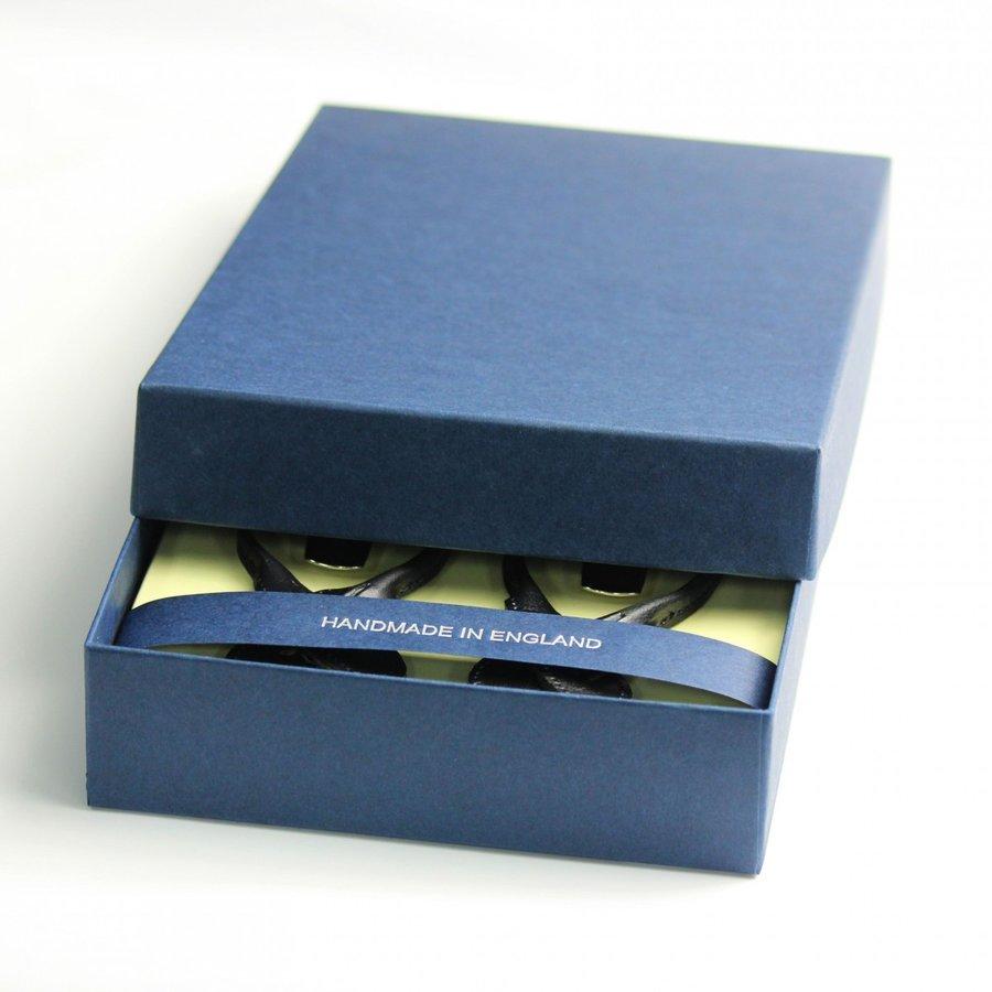 ALBERT THURSTON サスペンダー 英国製 35mm ペイズリー柄 ネイビー