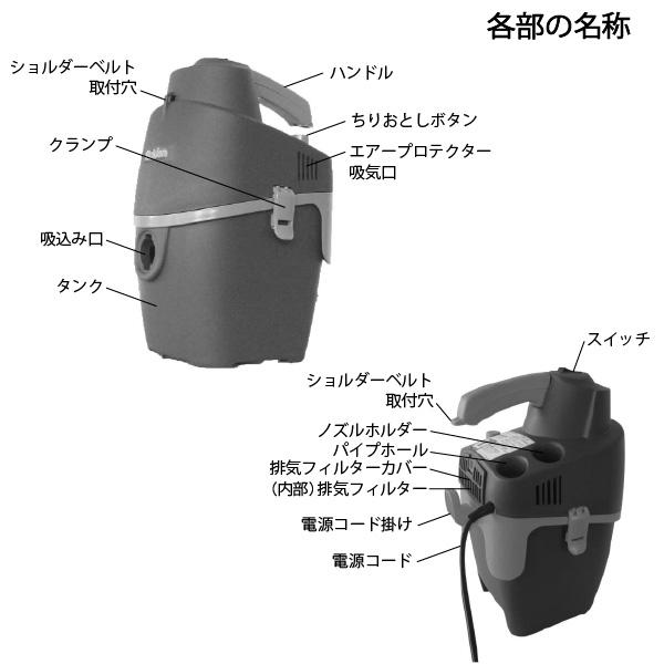 スイデン Suiden 「業務用掃除機 ショルダータイプ SKV-100」 (肩掛け式)※代引不可