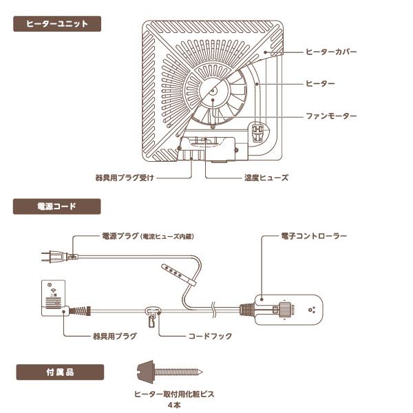 メトロ電気工業 こたつ用 取り替えヒーター MHU-601E(DK) 交換用 薄型 コタツヒーターユニット 手元コントローラー 無段階調節 速暖 U字型 ハロゲン 600W ユアサ炬燵推奨機器 MHU601EDK