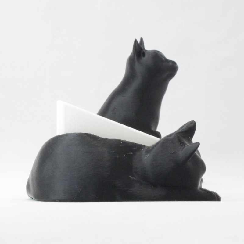 見つめる猫のスマホスタンド