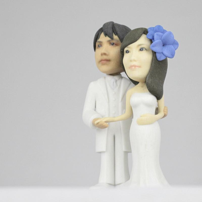 ウェディングフィギュア製作〜3D Mariage〜 { 3枚の写真からお作りする3Dプリンター製リアルフィギュア }