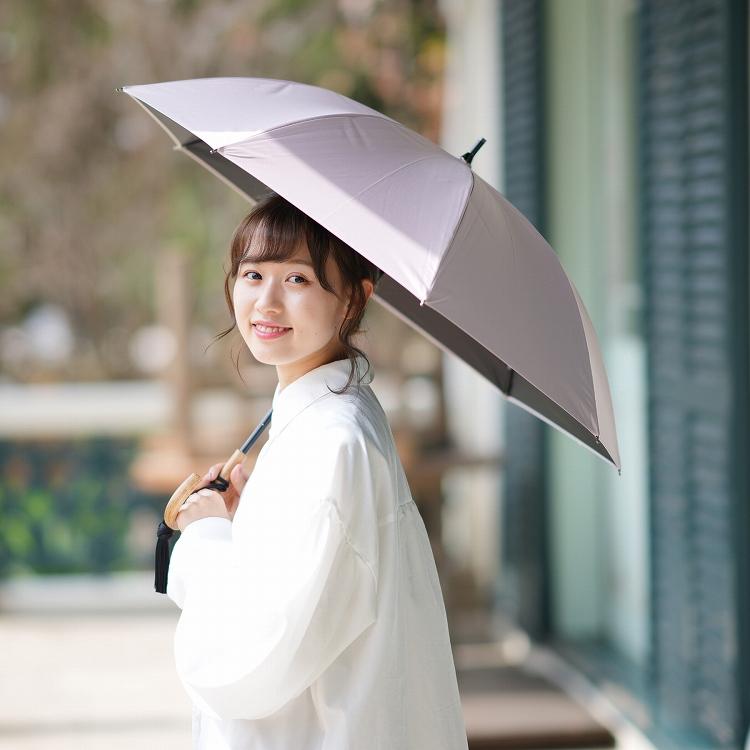 日傘 完全遮光 晴雨兼用 無地 全8色