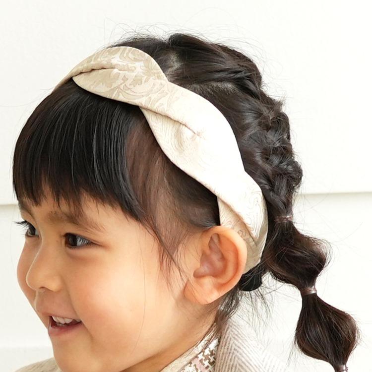 ひよこ商店 女児(3歳)七五三 着物 被布セット 古典柄 レトロ アンティーク系 花柄 茶系