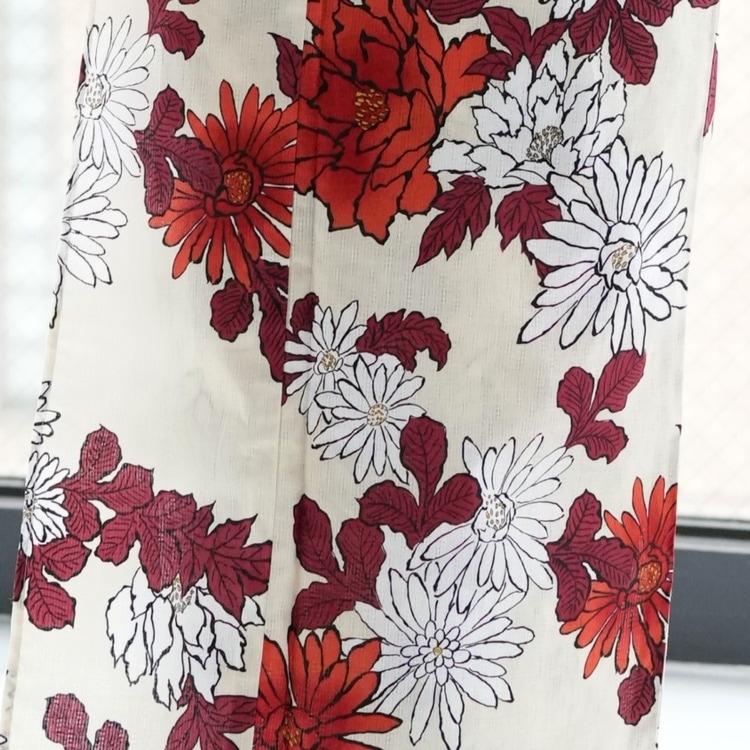 浴衣3点セット utatane 古典柄 レトロ アンティーク 系 菊 ベージュ 系