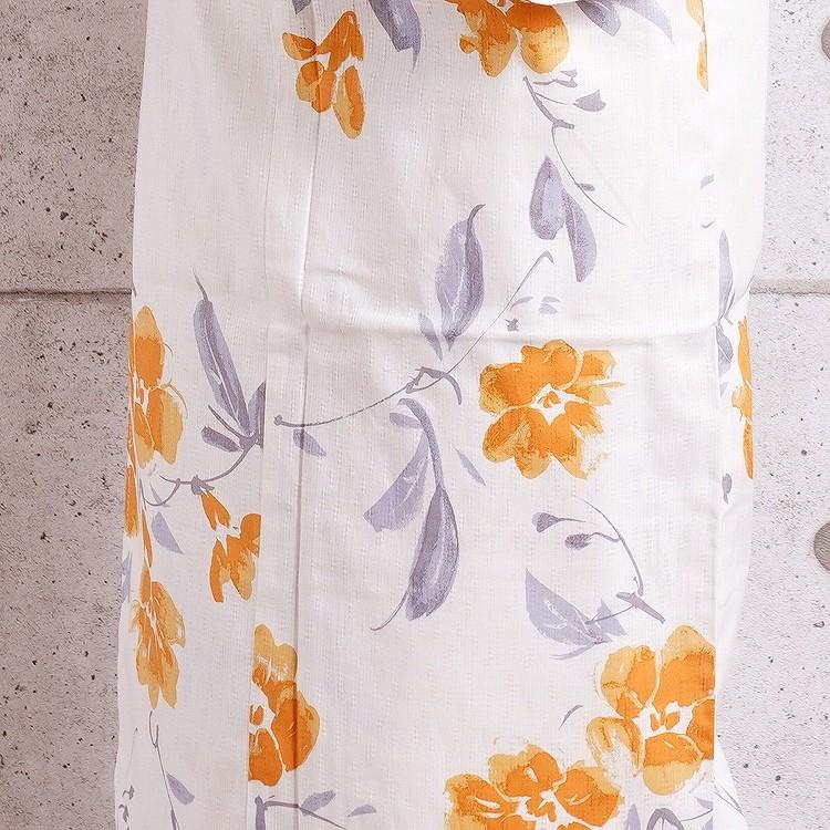 浴衣3点セット utatane 華やか 可愛い 系 花 ベージュ 系