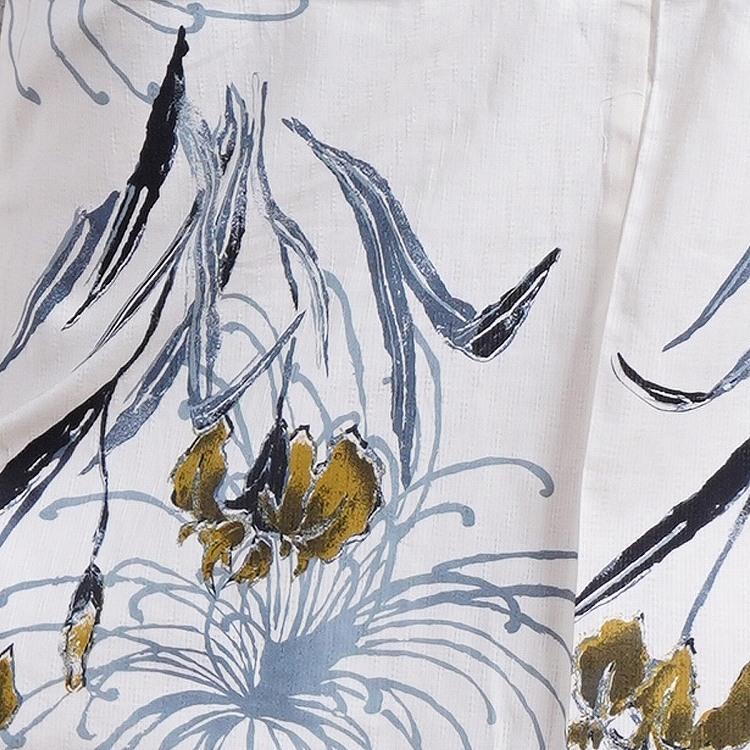 浴衣3点セット utatane しっとり大人 系 菖蒲と糸菊 きなり 系