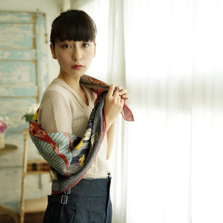 浮世絵 シルク スカーフ 90cm 伊藤若冲 象   伊藤若冲 象