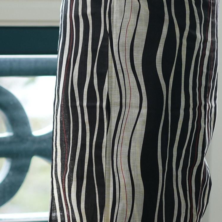浴衣3点セット  古典柄 レトロ アンティーク 系 縞 黒 系