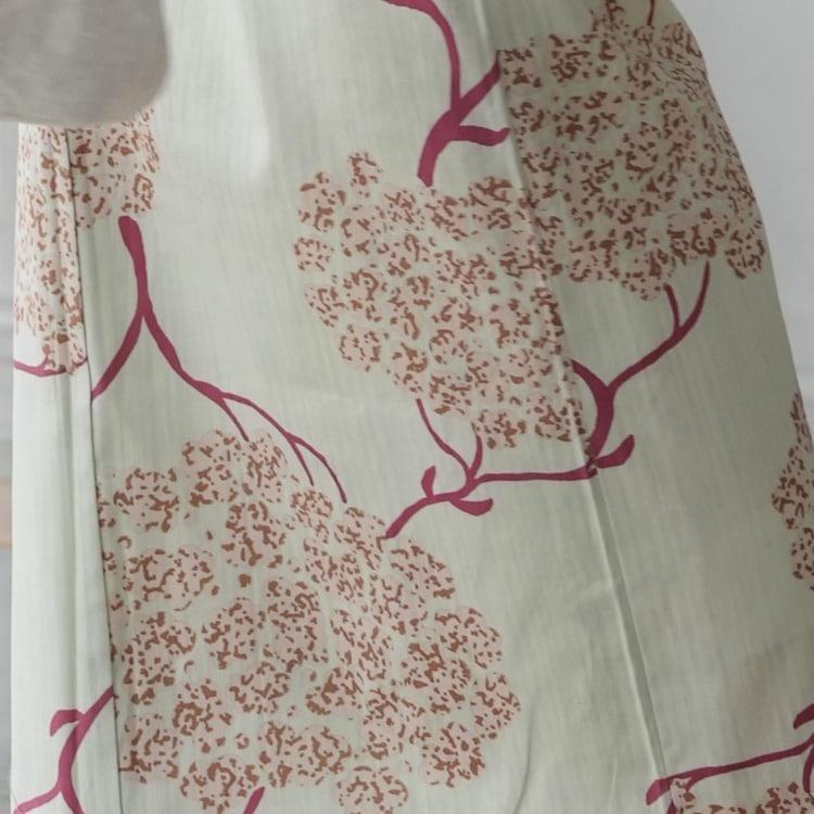 ニコアンティーク 浴衣3点セット(TL)変わり生地 華やか 可愛い系 紫陽花 水色系