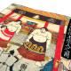 浮世絵 シルク スカーフ 90cm 歌川国芳 歓心大相撲   歌川国芳 歓心大相撲
