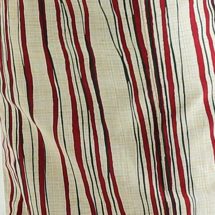 浴衣3点セット  古典柄 レトロ アンティーク 系 縞 ベージュ 系