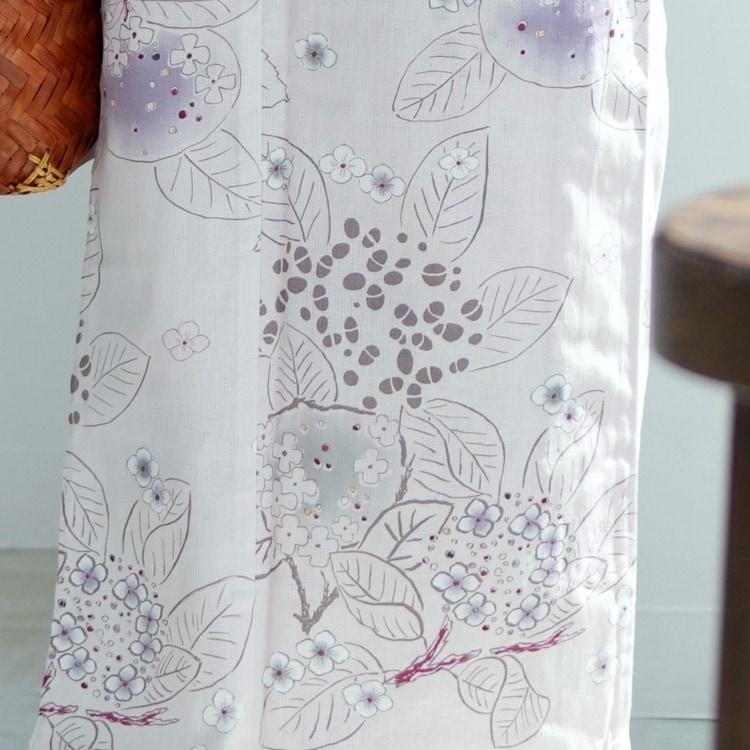 浴衣3点セット utatane 華やか 可愛い 系 紫陽花 きなり 系