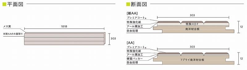 東洋テックス ダイヤモンドフロアー 新AAシリーズ