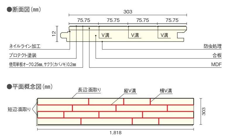 コンビットニューアドバンス75 【床暖房非対応】 FKM477-7-** ウッドワン