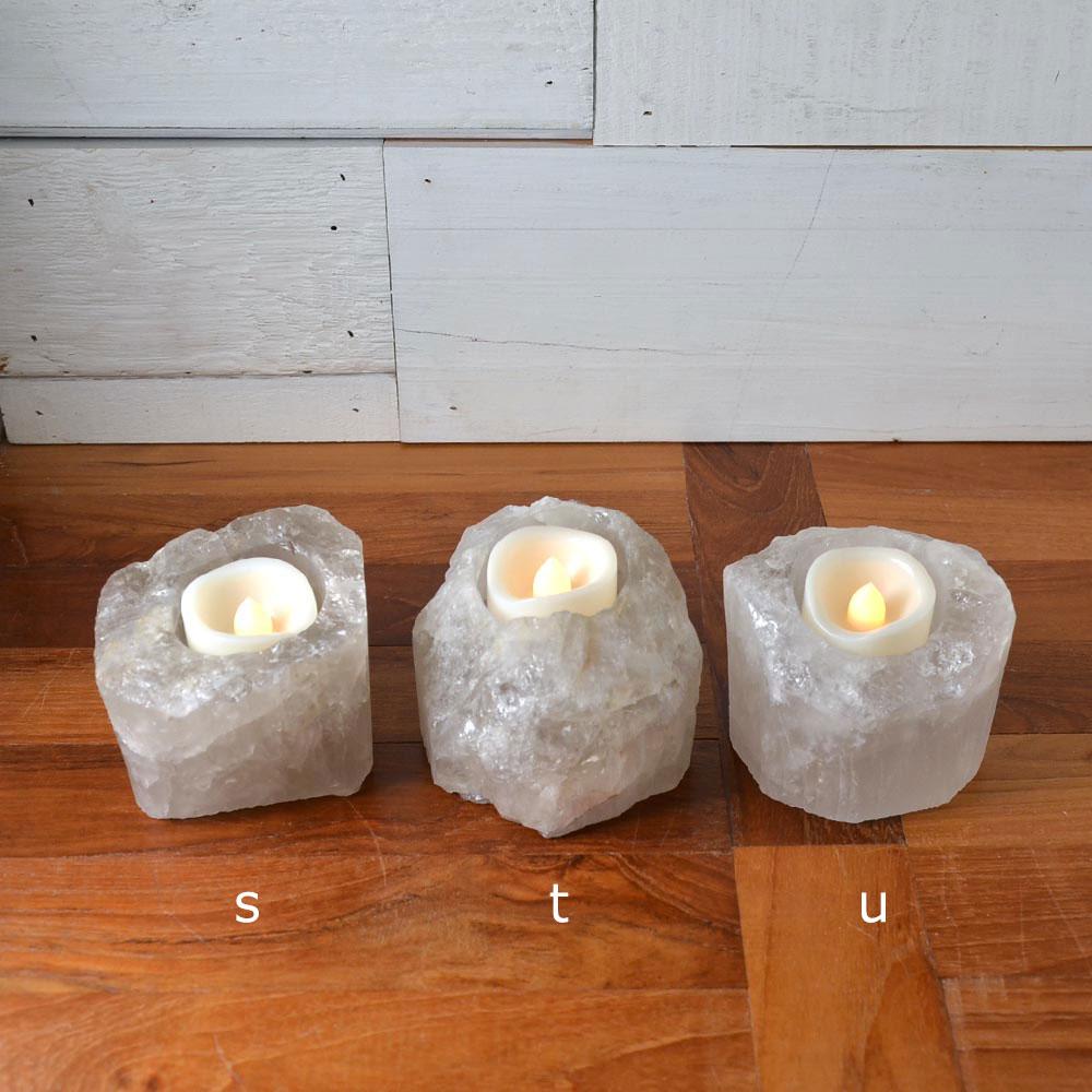 水晶 キャンドルホルダー(M)