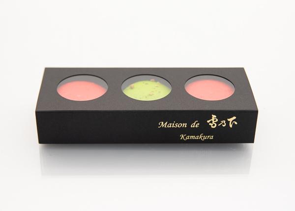 マカロン(3個入)-Macaron Fraise Pistache-