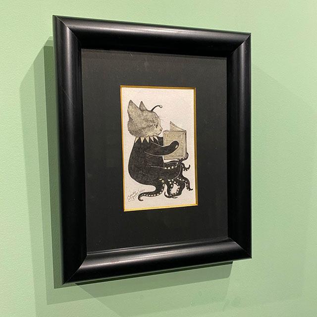 【抽選のための展示】ヒグチユウコ原画No.1 猫の文学館?のための装画