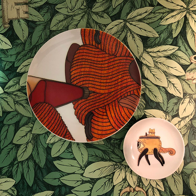 キューライス ナポリタン皿とボリス豆皿セット