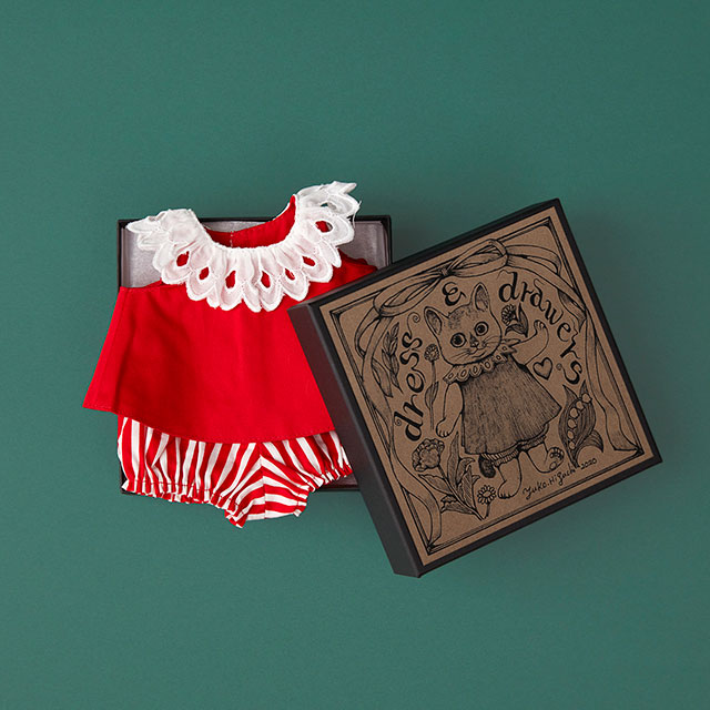 こはるの洋服 dress&drawers red