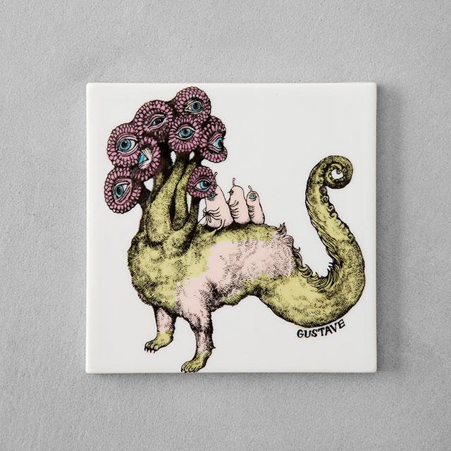 陶板 Flower Dragon