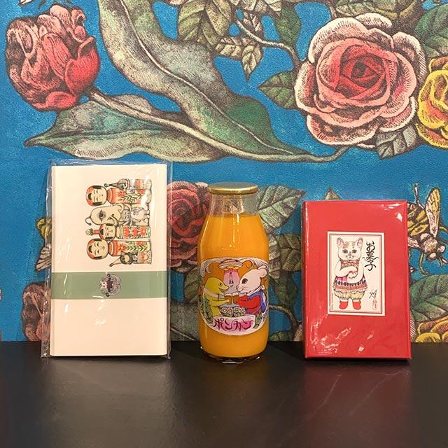 【スペシャルセット】お菓子+ポンカンジュース(懐紙プレゼント)