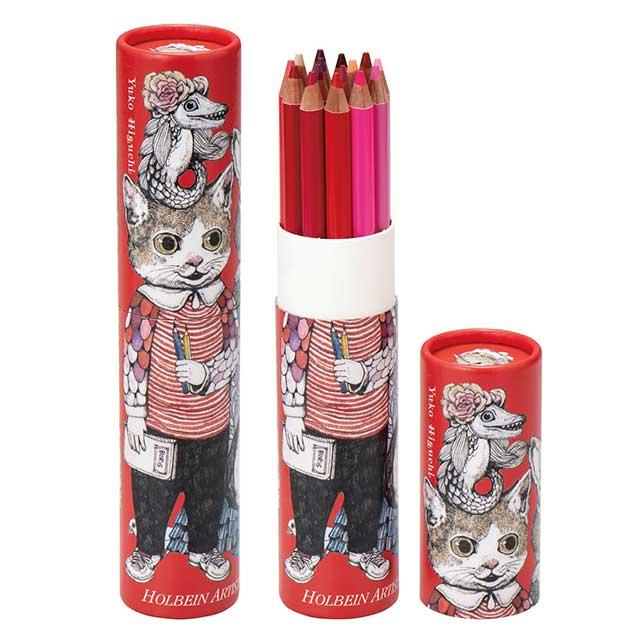 ヒグチユウコxホルベイン2018 アーチスト色鉛筆15色(赤)