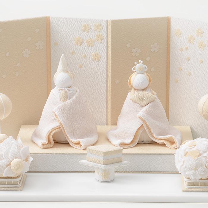 白粋-HAKI- 雛人形 桜舞うお雛様