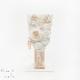 白粋-HAKI- 正絹つまみ細工羽子板飾り(敷物付き) 花雪-hanayuki-