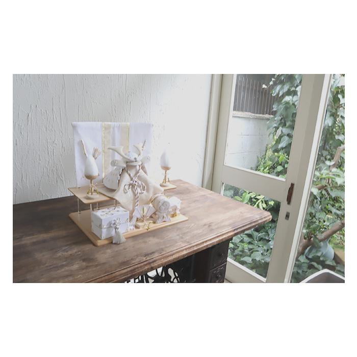 白粋-HAKI- 二段兜飾り 夢颯(ゆめはやて) 名入れフォトフレーム付き