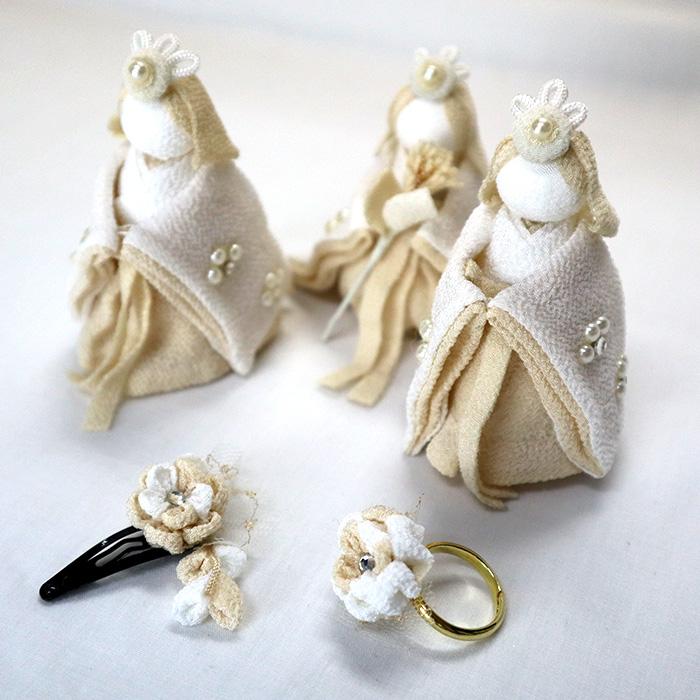 白粋-HAKI- 二段雛飾り 夢衣(ゆめごろも) 名入れフォトフレーム付き 直販限定モデル