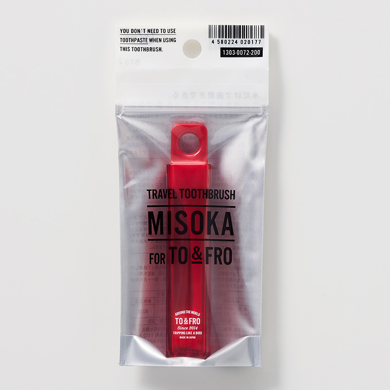 TRAVEL TOOTHBRUSH MISOKA FOR TO&FRO (Red)