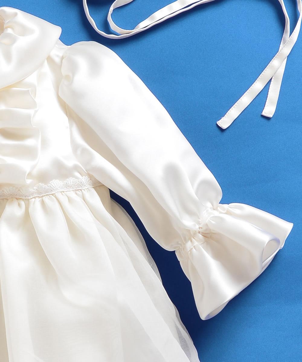天然シルク100%フレアーベビードレス【お宮参りに最適】