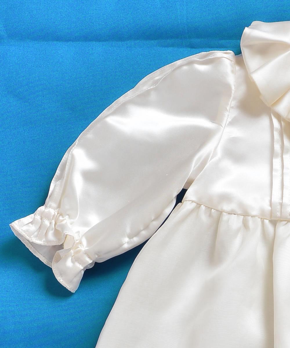 天然シルク100%シンプル・オーガンジーベビードレス【お宮参りに最適】