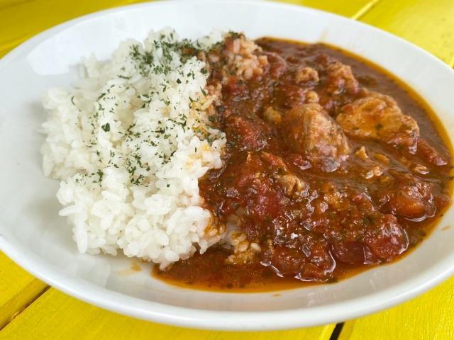 【冷凍】久米島産赤鶏のチキントマト煮 250g x5セット YUNAMI FACTORY オリジナル 【送料込み】