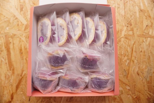 【紅芋食べ比べセット】 無添加 シュークリーム5個&ロールケーキ5枚 冷凍【送料込み】