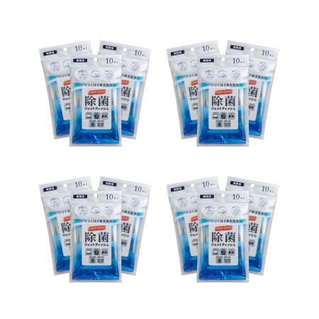 除菌ウェットティッシュ 10枚入り(携帯用)×12個