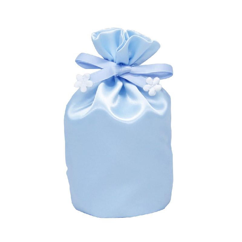 お遺骨袋 サテン 2.5寸 ブルー