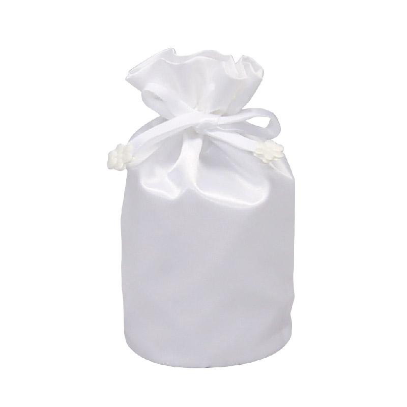 お遺骨袋 サテン 2.5寸 ホワイト