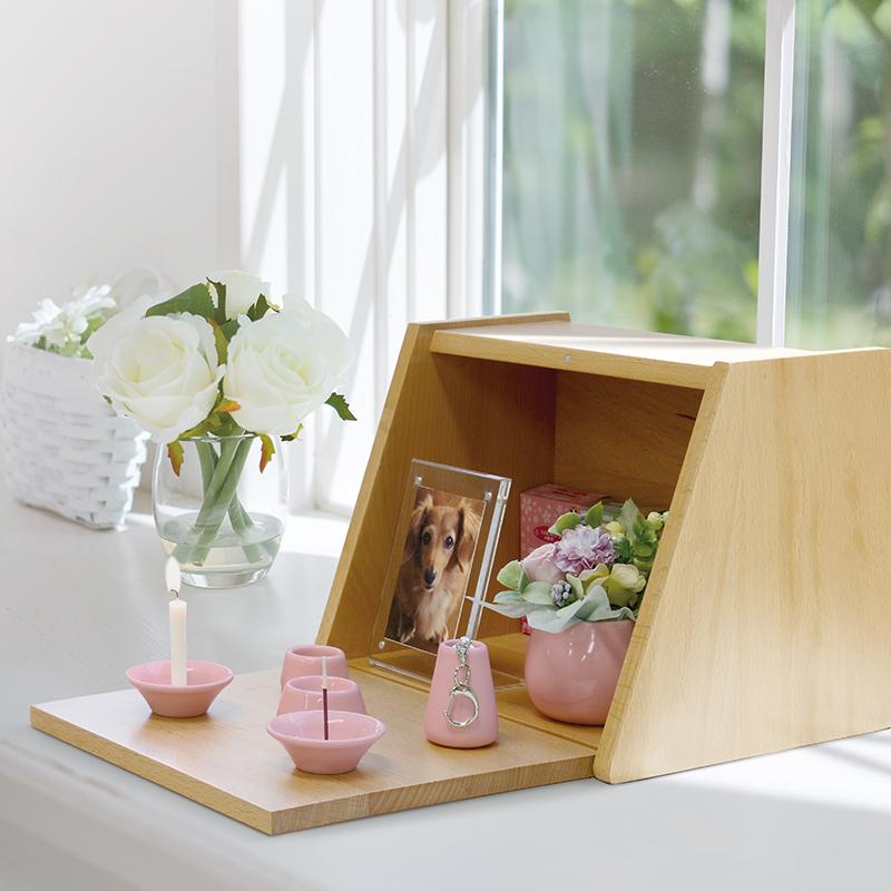 手元供養BOX(小)ブラウン H20.5cm