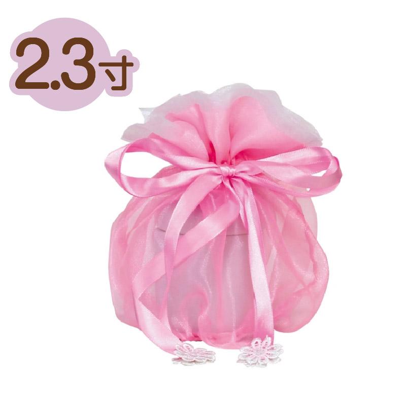 お遺骨袋 2色レース 2.3寸 ピンク